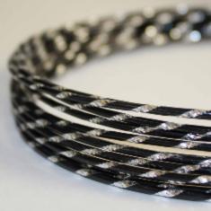 7712 Проволока художественная алюминиевая круглая с насечками, диаметр 2мм, цвет №12 черный