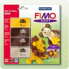 39/8024/L2 Наборы для лепки FIMO Soft Zoo, 4шт25г, STAEDTLER