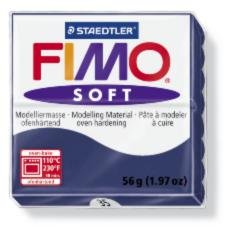 35/8020 Полимерная глина FIMO Soft, темно-синий (56г) STAEDTLER