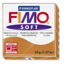 76/8020 Полимерная глина FIMO Soft, коньяк (56г) STAEDTLER