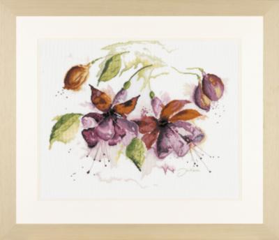 Схема вышивки цветков ланарте