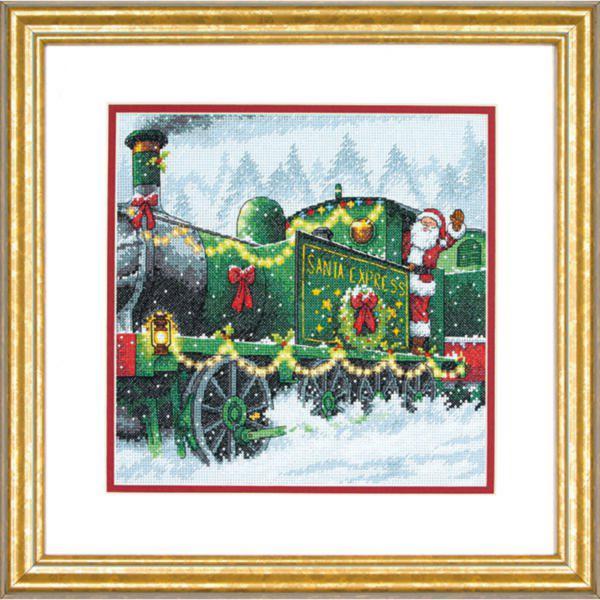 70-08918 Набор для вышивания крестом DIMENSIONS Santa Express